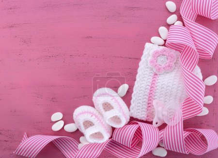 Its a Girl Baby Shower or Nursery background