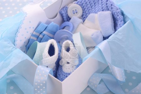 Its a Boy Blue Baby Shower Gift Box