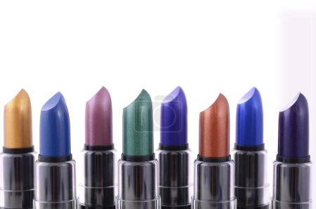 Modern makeup lipstick color range.