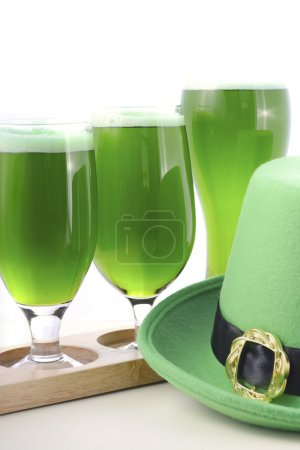 St Patricks Day green beer