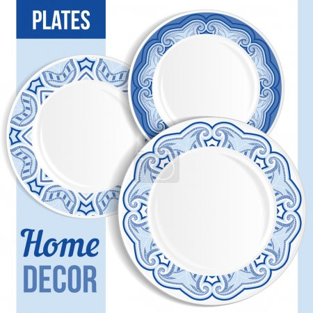 Set of decorative plates.