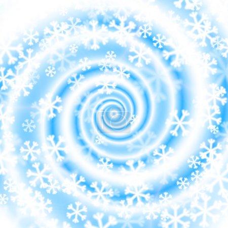 Illustration pour Tourbillon de blizzard des neiges. Fond d'hiver. Illustration vectorielle . - image libre de droit