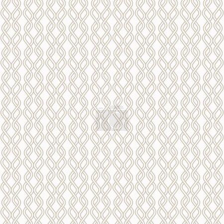 Illustration pour Fond de ligne abstrait - motif tricoté entrelacé. Fond vectoriel sans couture. Deux couleurs - facile à recolorer . - image libre de droit