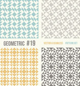 Set of four geometric patterns