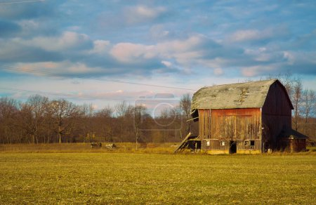 Weathered old barn