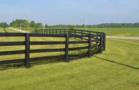 Dark Brown painted country fence