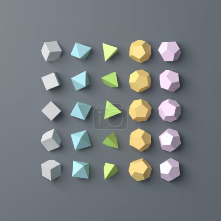 Photo for Polygon background. Flat lay, top view. 3D image - Royalty Free Image
