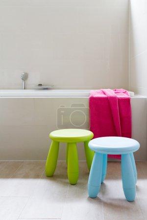 Designer family bathroom