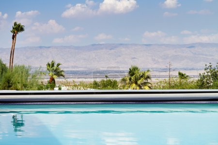 Horizontal Swimming pool with a view of the mountains