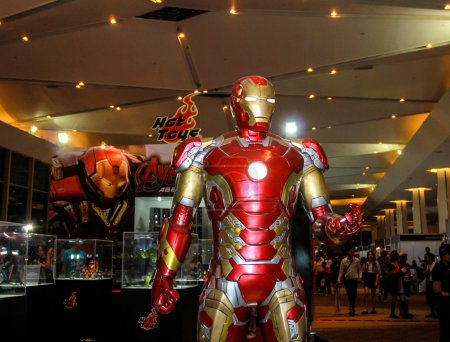 A model of the character Iron Man from the movies and comics