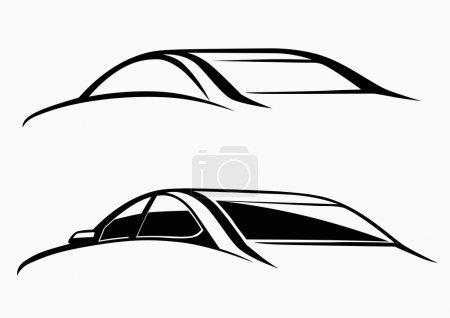 Illustration pour Logo de voiture calligraphique - image libre de droit
