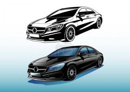 Illustration pour Dessin d'automobile vectoriel charismatique - image libre de droit