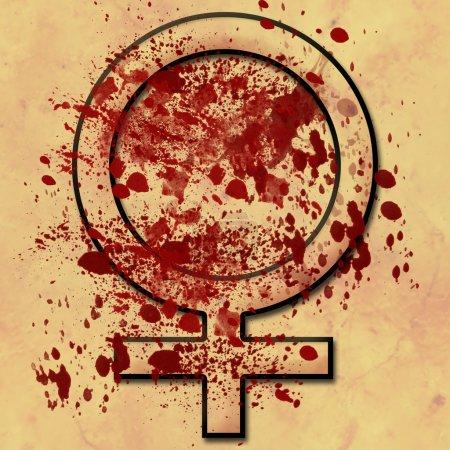 Women Under Attack Grunge