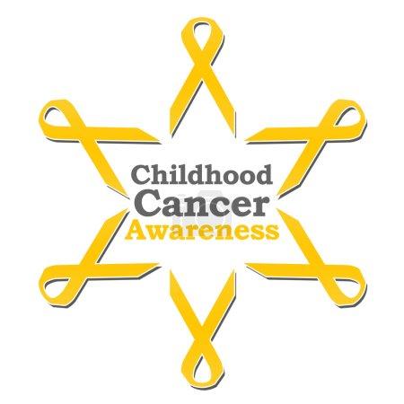 Photo pour Image conceptuelle pour la conscience de cancer d'enfance avec des rubans d'or. - image libre de droit