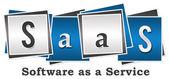 SaaS - Software As A Service vier Blöcke