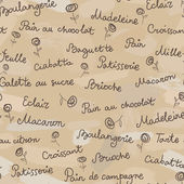 Names of products from bakery in french language