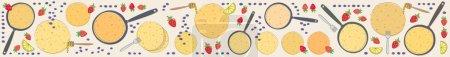 Pancakes banner horizontal