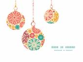 Vector abstract decorative circles Christmas ornaments silhouettes pattern frame card template