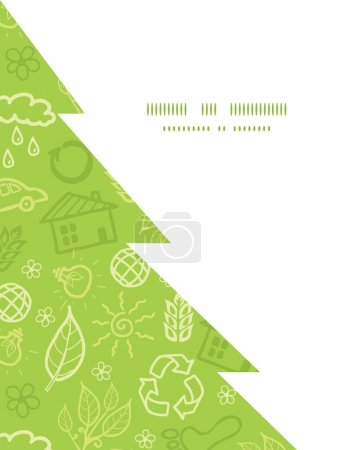 Vector environmental Christmas tree silhouette pattern frame card template