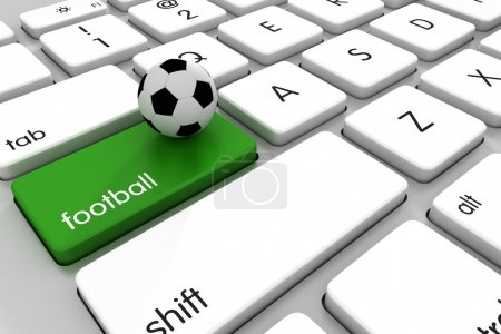 Football online concept for betting