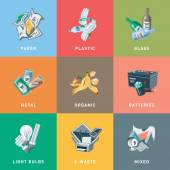 Trash Waste Recycling Categories Types