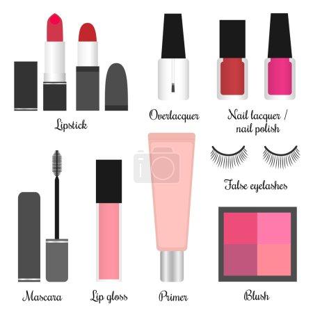 Cosmetics set for a make-up (set 1)
