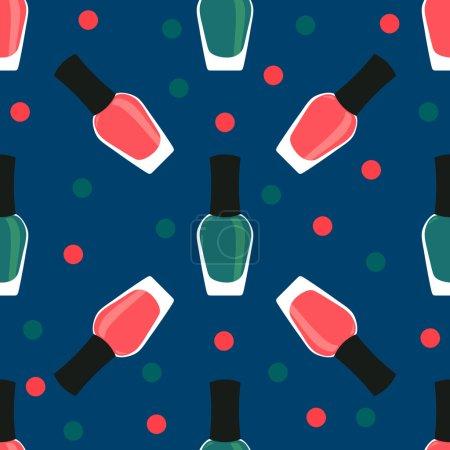 Nail lacquer or nail polish seamless pattern
