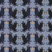 Ghosts party seamless pattern 4