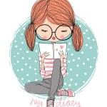 Cute girl reading a book...