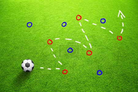 Strategy plan soccer ball game background