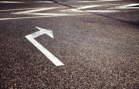 Street turn sign arrow