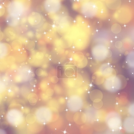 Golden abstract Xmas background
