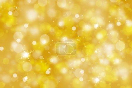 Photo pour Fond Abstrait bokeh floue de couleur dorée avec éclat (illustration). - image libre de droit