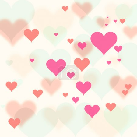 Retro Valentine's Day Hearts background