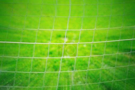 Foto de Resumen fútbol objetivo neto de fondo. Efecto de foto zoom utilizado. - Imagen libre de derechos