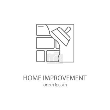 Illustration for Home improvement logotype design templates. Modern easy to edit logo template. Vector logo design series. - Royalty Free Image