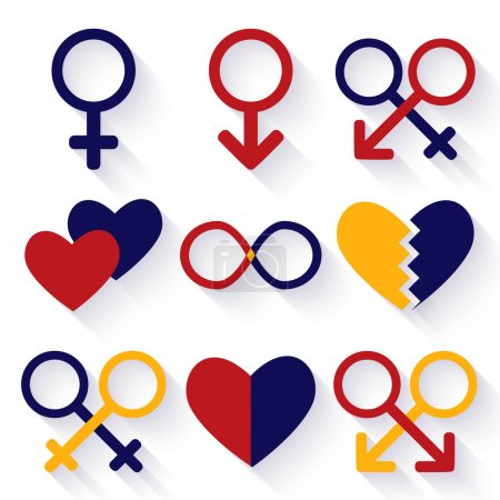 Vector illustration of male and female sex symbol