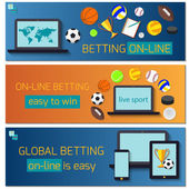 Concept for web banner sports betting statistics Flat design icons for sports theme