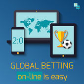 Concept for web banner sports betting statistics
