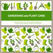 Flat design banner for gardening and horticulture.