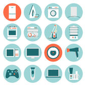 Flat design icons of home appliances Vector illustration