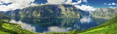 Beautiful panorama with view to Aurland