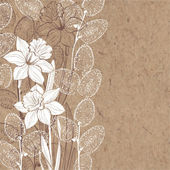 spring flowers on kraft paper
