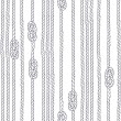 Seamless pattern with marine rope and knots on a w...