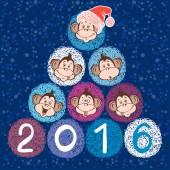 Novoroční přání s opic