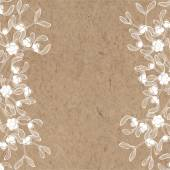 Floral background with mistletoe on kraft paper Can be greeting