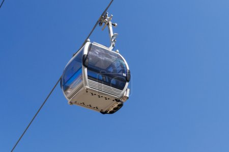 Cabin on Ski lifts to Shymbulak ski resort