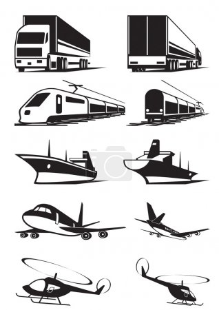 Photo for Cargo transportation in perspective - vector illustration - Royalty Free Image