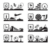 Various industries with logos