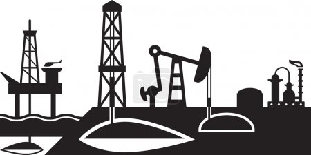 Extraction and processing of oil scene